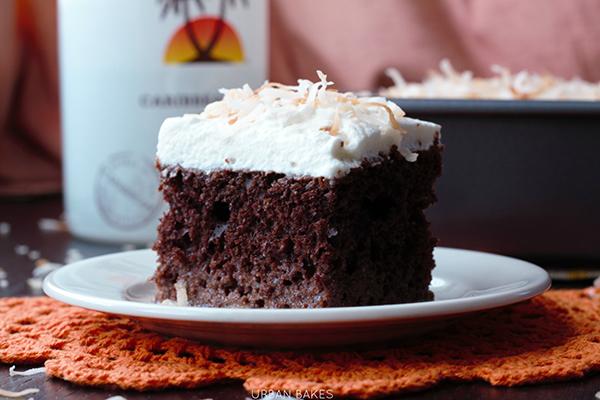 Chocolate Coconut Malibu Rum Cake | URBAN BAKES