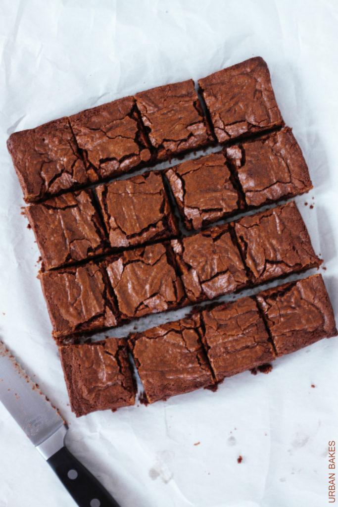 Easy One-Bowl Classic Fudge Brownies | URBAN BAKES