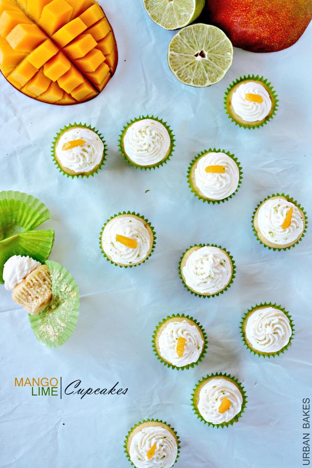 Mango-Lime Cupcakes | urbanbakes.com