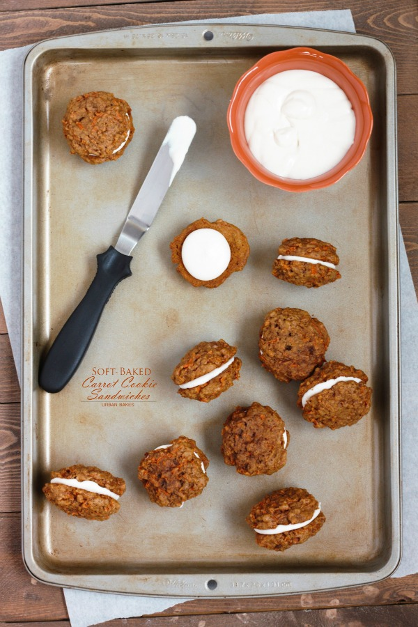 Soft Baked Carrot Cookie Sandwiches | URBAN BAKES