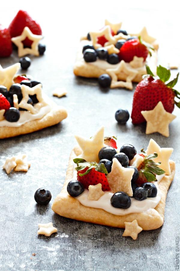 Star Struck Berry Marshmallow Pies   URBAN BAKES