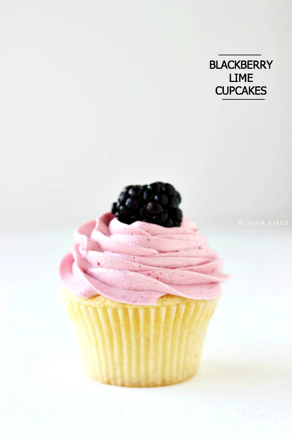 Blackberry Lime Cupcakes | URBAN BAKES