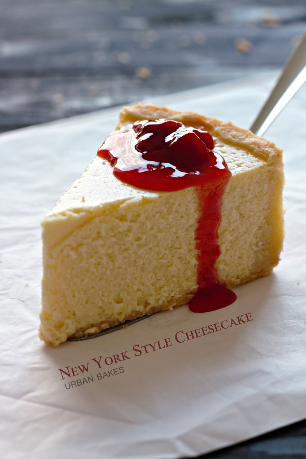Classic New York Style Cheesecake with Strawberry Topping | URBAN BAKES