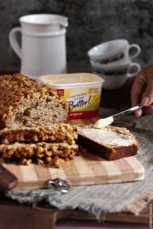 Walnut Crumb Topped Banana Nut Bread   URBAN BAKES