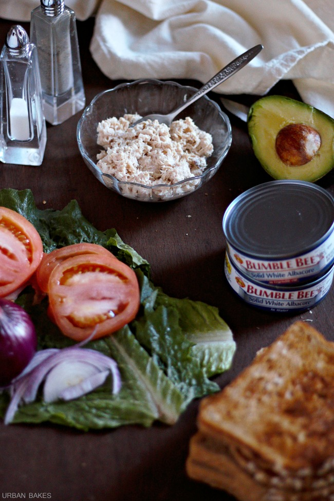 Ingredients for Tuna Avocado Sandwich | URBAN BAKES