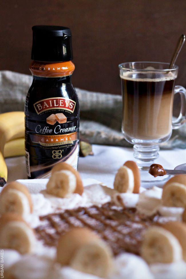 No-bake Banana and Dulce de Leche Pie with BAILEYS Coffee Creamer Caramel   URBAN BAKES
