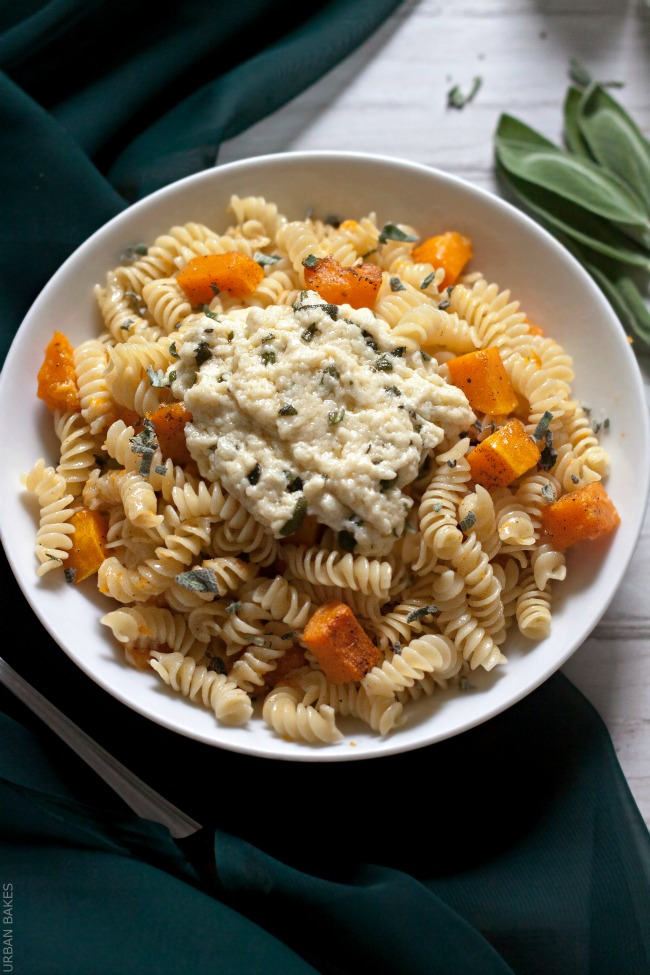 Butternut Squash Pasta with Parmesan Browned Butter and Sage | URBAN BAKES