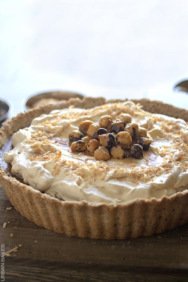Hazelnut Dulce de Leche Coconut Pumpkin Pie   URBAN BAKES