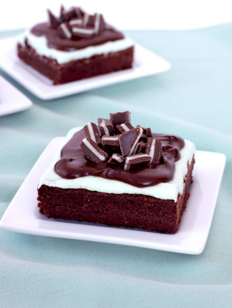 Andes Mint Chocolate Brownies | urbanbakes.com