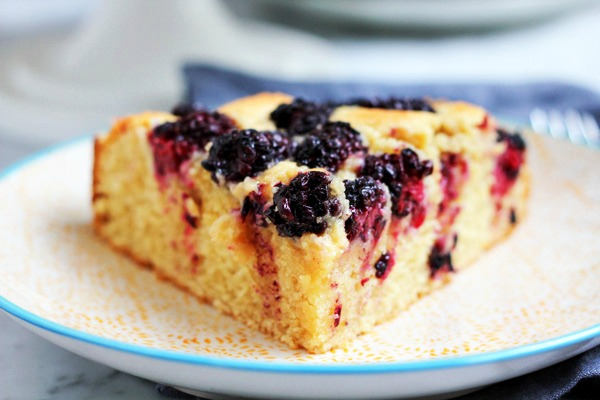 Blackberry Almond Cake | guest post for URBAN BAKES