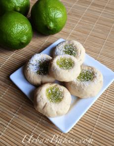 Lime Creams a Thumbprint Cookie | URBAN BAKES