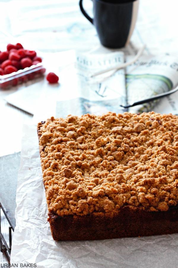New York Style Raspberry Crumb Cake   URBAN BAKES