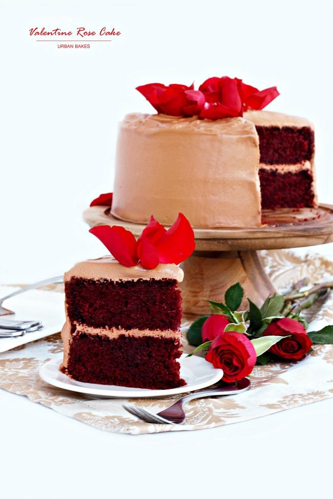 Valentine Rose Cake | URBAN BAKES