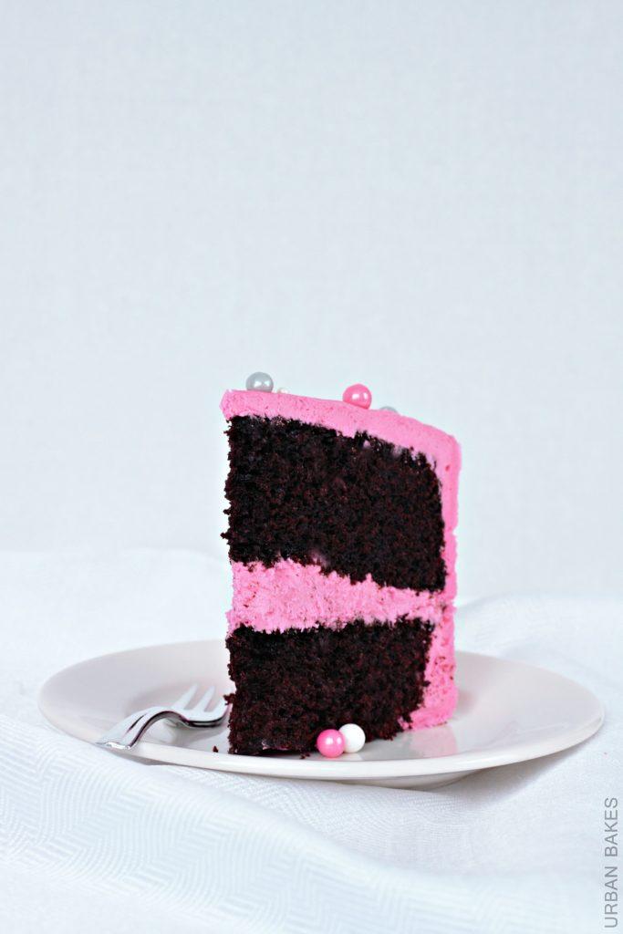 Vegan Chocolate Cake with Pink Vegan Frosting   URBAN BAKES