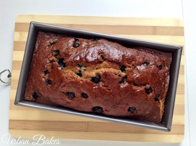 Blueberry Banana Sour Cream Bread | URBAN BAKES