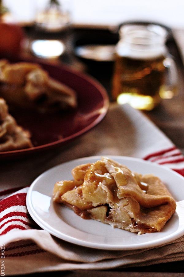 Apple Crostata with Bourbon Cider Sauce   urbanbakes.com