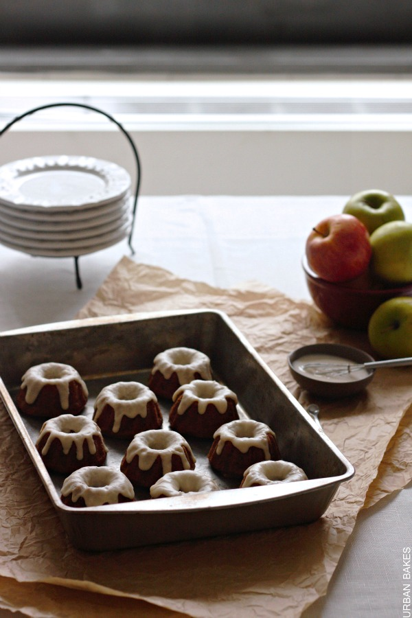 Applesauce Teacakes with Brown Butter Frosting   urbanbakes.com