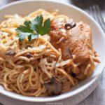 Tallarin con Pollo AKA Spanish Style Spaghetti with Chicken | URBAN BAKES