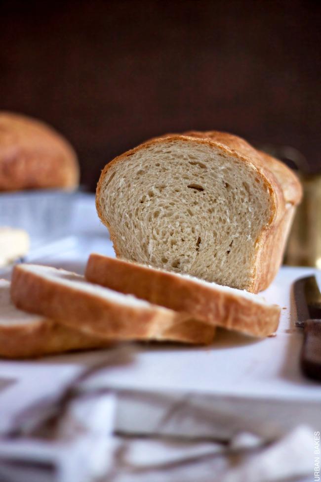 Classic Homemade White Bread. No bread machine required.   URBAN BAKES