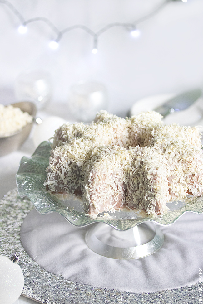 Pure White and Velvety Coconut Bundt Cake | URBAN BAKES