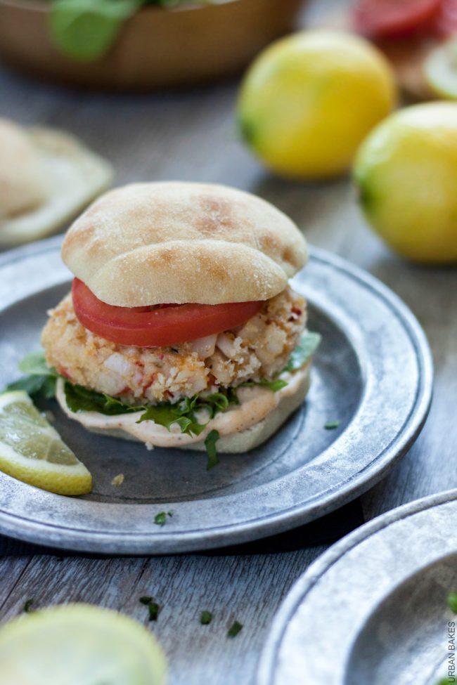 Crab Cake Sliders with Lemon Aioli | URBAN BAKES