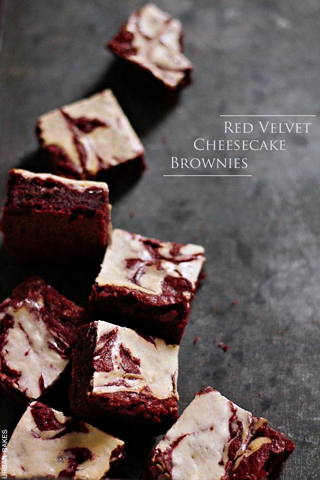 Red Velvet Cheesecake Brownies | URBAN BAKES