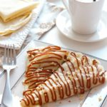Banana Nut Crepes with Dulce de Leche sauce | URBAN BAKES A no-bake breakfast, made in minutes!
