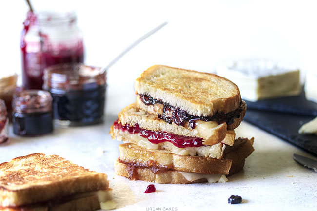 Fruit and Brie Grilled Cheese   URBAN BAKES