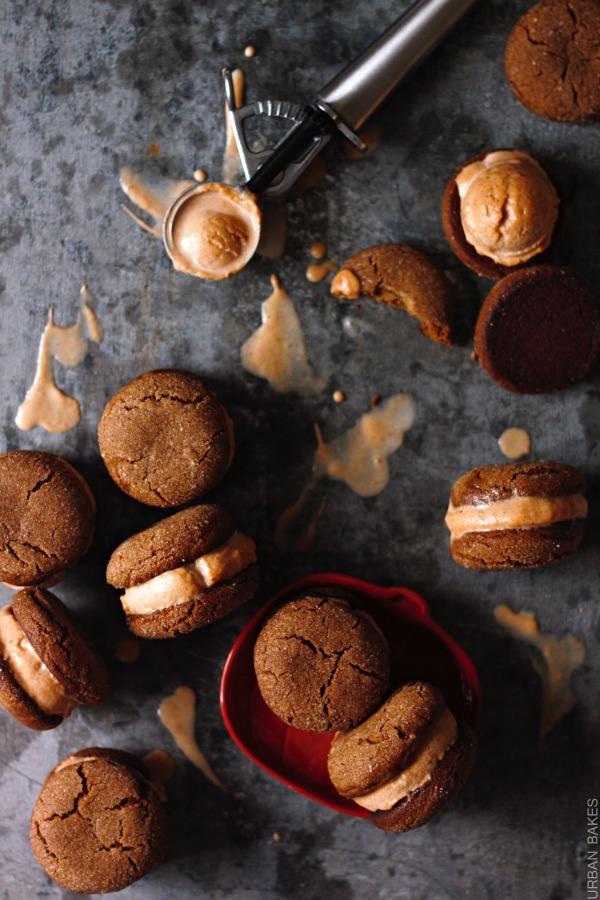 Ginger Snap Pumpkin Ice Cream Sandwiches | urbanbakes.com