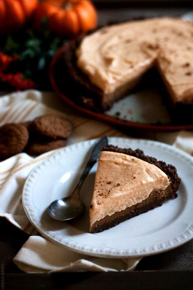 Gingersnap and Pumpkin Butterscotch Cream Pie   URBAN BAKES