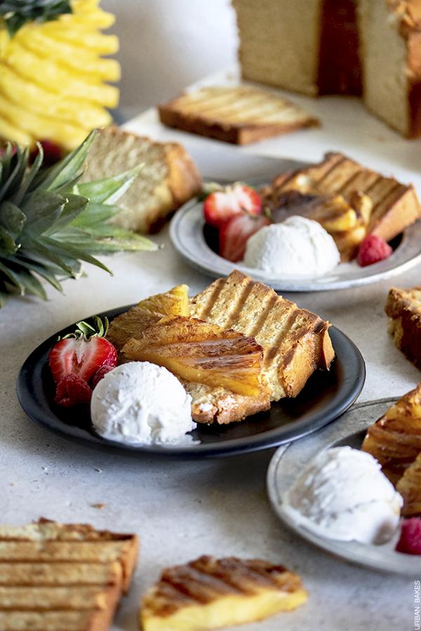 Grilled Pineapple Sour Cream Pound Cake | URBAN BAKES