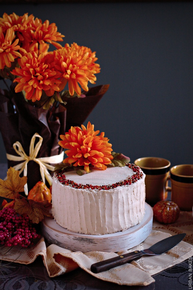 Harvest Cake with Brown Sugar Frosting | urbanbakes.com