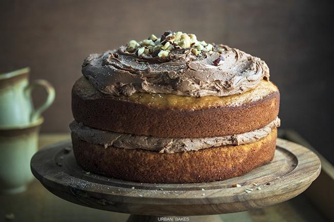 Hazelnut Cream Banana Cake | URBAN BAKES
