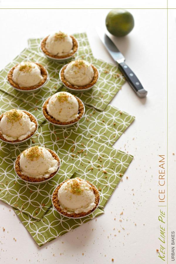 Key Lime Ice Cream Pies | urbanbakes.com