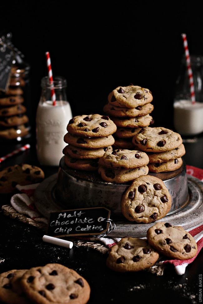 Malt Chocolate Chip Cookies | URBAN BAKES