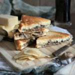 Fried Onion and Mushroom Grilled Cheese Sandwich | URBAN BAKES
