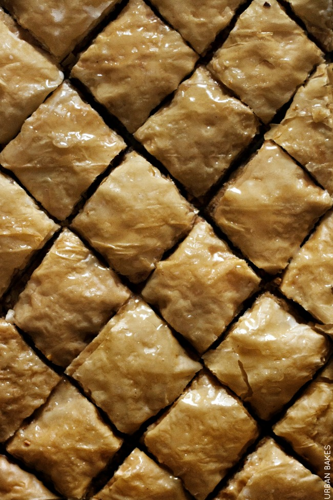 Pistachio Baklava with Cardamom and Rose Water | URBAN BAKES