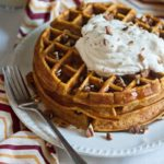 Pumpkin Spice Waffles with Maple Whipped Cream | URBAN BAKES
