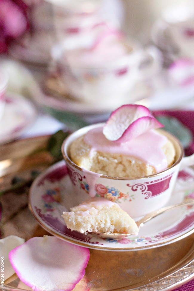 Rose Water Mug Cakes | URBAN BAKES