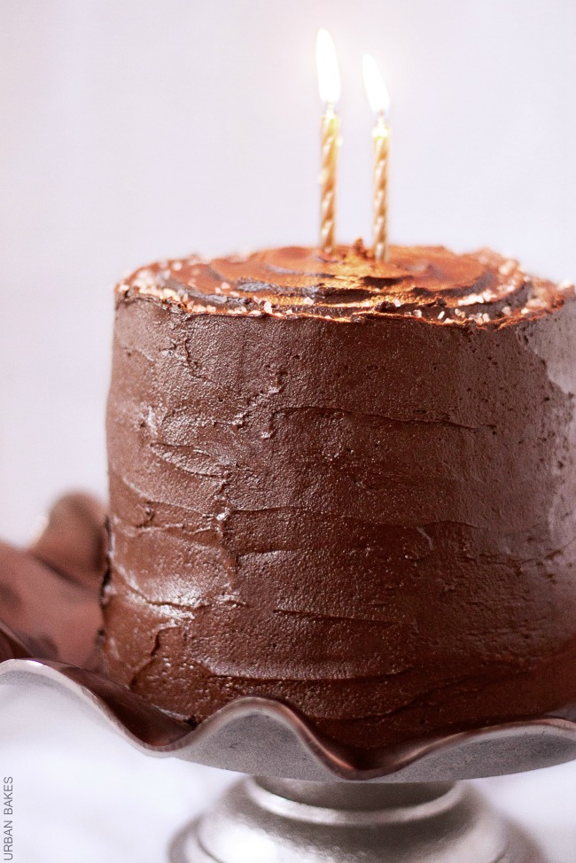 Devil's Food Cake with Salted Caramel Frosting   URBAN BAKES