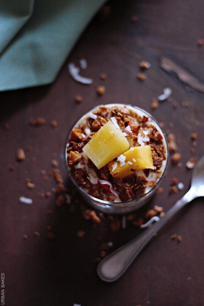 Silk Dairy Free Tropical Pineapple and Mango Parfait | URBAN BAKES