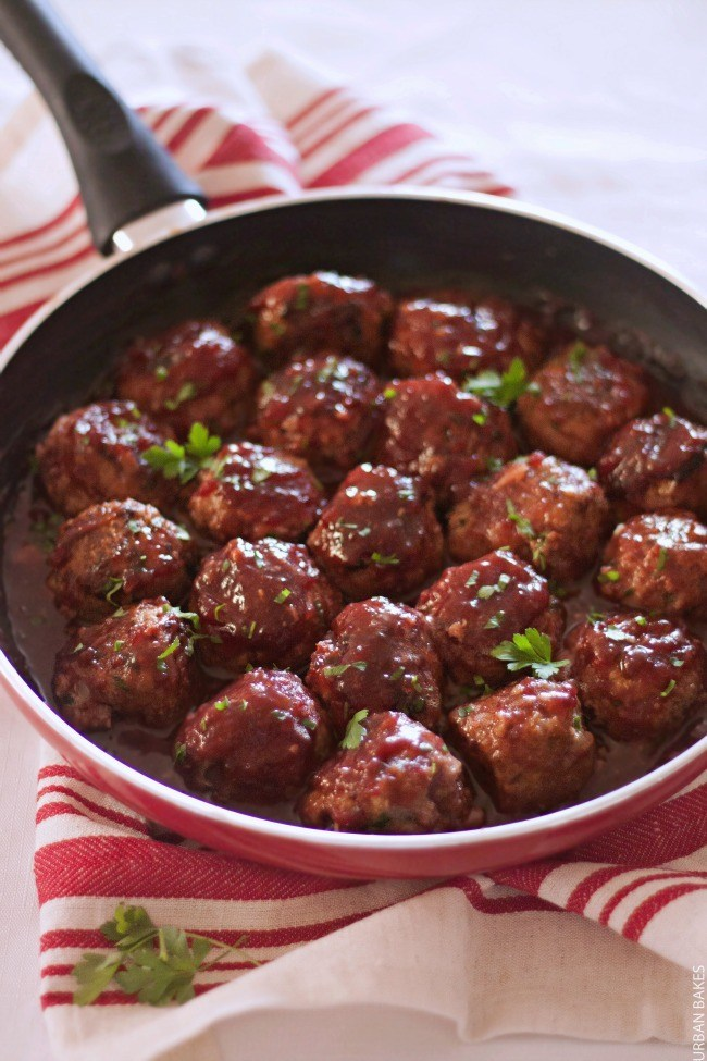 Turkey Meatballs with Cranberry Sauce | URBAN BAKES