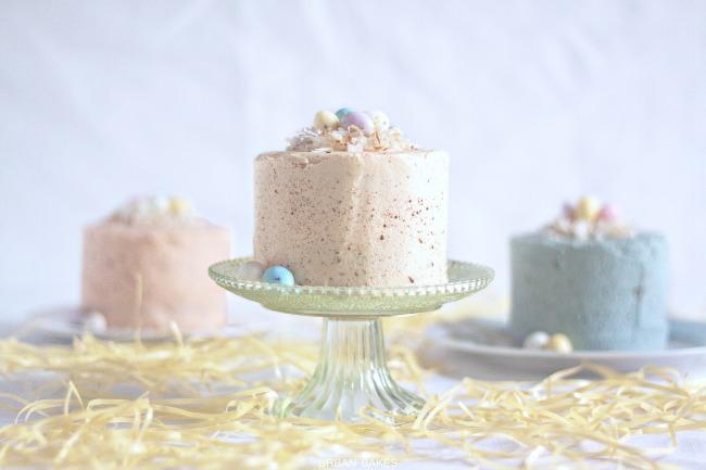 Mini Vanilla Malt Speckled Egg Cakes | URBAN BAKES