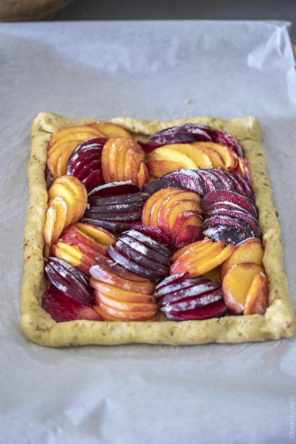 Prebaked Nectarine and Plum Pistachio Galette | URBAN BAKES