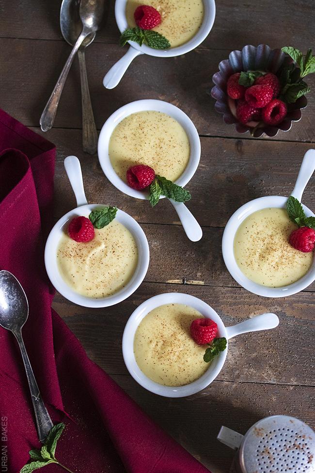 Eggnog Pots de Crème | URBAN BAKES