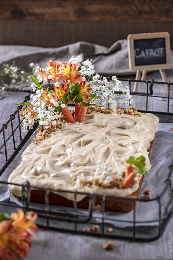 Carrot Sheet Cake with Buttermilk Cream Cheese Frosting | URBAN BAKES