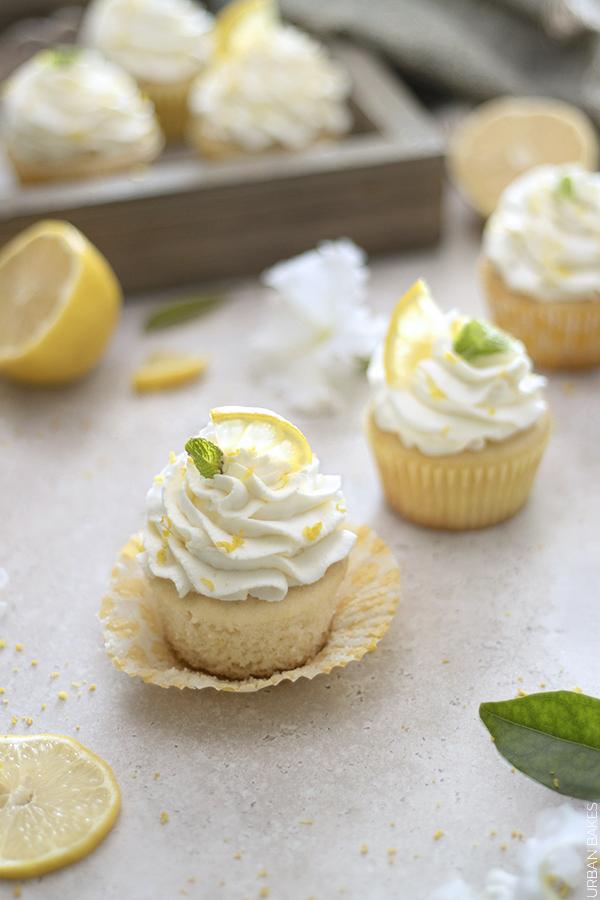 Lemon Cupcakes with Lemon Mascarpone Frosting | URBAN BAKES