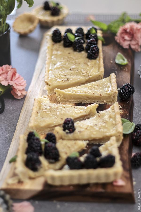 Blackberry and Basil Cream Almond Tart | URBAN BAKES