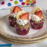 Dog Safe Strawberry and Banana Cupcakes | URBAN FURBABY