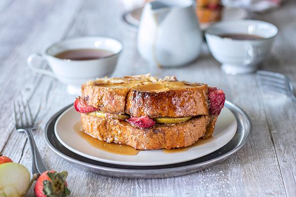 Strawberry Apple Baked French Toast | URBAN BAKES